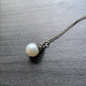 Tiffany & Co. Silver Pearl Necklace- Gatsby